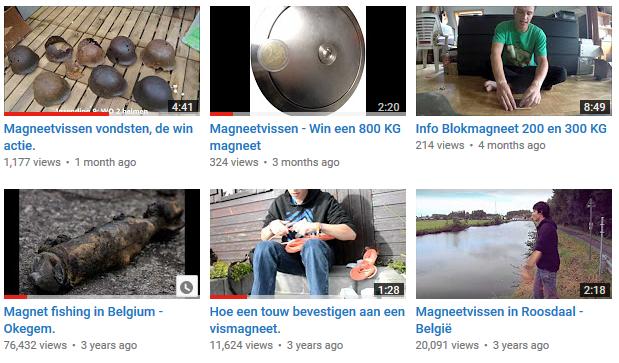 Vismagneet.com op Youtube